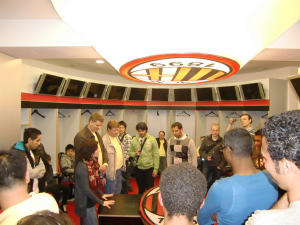 AC Milan locker room